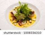 seafood and fried shrimps with... | Shutterstock . vector #1008336310