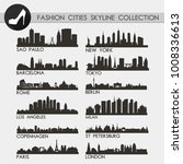 most famous fashion cities... | Shutterstock .eps vector #1008336613