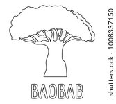 baobab icon. outline... | Shutterstock . vector #1008337150