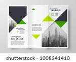 triangles tri fold business... | Shutterstock .eps vector #1008341410
