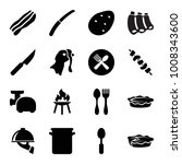 cooking icons. set of 16... | Shutterstock .eps vector #1008343600