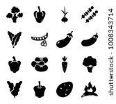 vegetable icons. set of 16... | Shutterstock .eps vector #1008343714