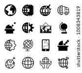 planet icons. set of 16... | Shutterstock .eps vector #1008343819