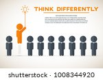 think differently   being... | Shutterstock .eps vector #1008344920