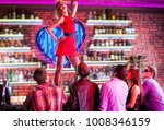beautiful girl dancing on the... | Shutterstock . vector #1008346159