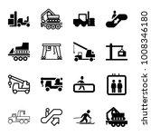 lift icons. set of 16 editable... | Shutterstock .eps vector #1008346180