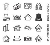 real icons. set of 16 editable... | Shutterstock .eps vector #1008346480