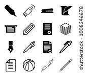 pen icons. set of 16 editable... | Shutterstock .eps vector #1008346678