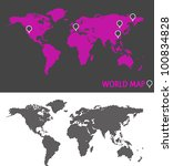 world map with dashed lines   Shutterstock .eps vector #100834828