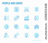 people and users thin line... | Shutterstock .eps vector #1008352408