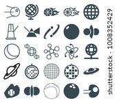 sphere icons. set of 25... | Shutterstock .eps vector #1008352429