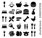 meal icons. set of 25 editable... | Shutterstock .eps vector #1008352528
