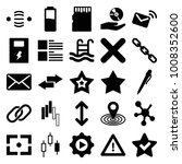 interface icons. set of 25... | Shutterstock .eps vector #1008352600