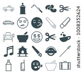 clipart icons. set of 25... | Shutterstock .eps vector #1008352624