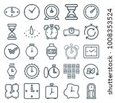 clock icons. set of 25 editable ... | Shutterstock .eps vector #1008353524