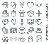 heart icons. set of 25 editable ... | Shutterstock .eps vector #1008353656