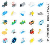 Energy crisis icons set. Isometric set of 25 energy crisis vector icons for web isolated on white background