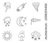 forecasting icons set. outline... | Shutterstock .eps vector #1008354400