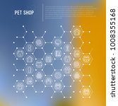 pet shop concept in honeycombs... | Shutterstock .eps vector #1008355168