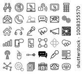 communication icons. set of 36... | Shutterstock .eps vector #1008355570