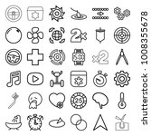 circle icons. set of 36... | Shutterstock .eps vector #1008355678