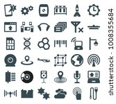 technology icons. set of 36... | Shutterstock .eps vector #1008355684