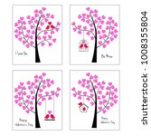birds and trees valentine... | Shutterstock .eps vector #1008355804