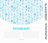 psychologist concept with thin... | Shutterstock .eps vector #1008355978