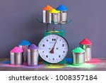 bright colours with weigher or... | Shutterstock . vector #1008357184