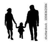 family walking with child... | Shutterstock .eps vector #1008362086