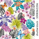 tropical seamless pattern with... | Shutterstock .eps vector #1008362206