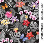 tropical seamless pattern with... | Shutterstock .eps vector #1008362230