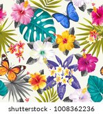 tropical seamless pattern with... | Shutterstock .eps vector #1008362236
