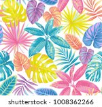 tropical seamless pattern with... | Shutterstock .eps vector #1008362266