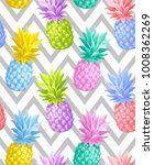 tropical seamless pattern with... | Shutterstock .eps vector #1008362269