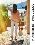 girl on the cobbled street of... | Shutterstock . vector #1008362308