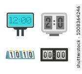 score table icon set. flat set... | Shutterstock .eps vector #1008364246
