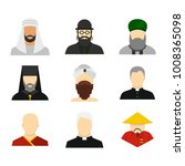 religious people icon set. flat ...   Shutterstock .eps vector #1008365098