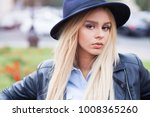 outdoor fashion portrait of... | Shutterstock . vector #1008365260