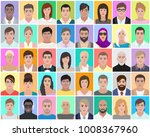 many portraits of people ... | Shutterstock .eps vector #1008367960
