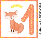 cute children flashcard number... | Shutterstock .eps vector #1008368044