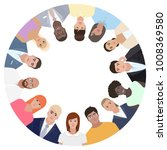 people in the circle  selfie... | Shutterstock .eps vector #1008369580