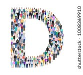letter d  group of people ... | Shutterstock .eps vector #1008369910
