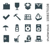 box icons. set of 16 editable... | Shutterstock .eps vector #1008370108