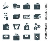 pay icons. set of 16 editable... | Shutterstock .eps vector #1008370183