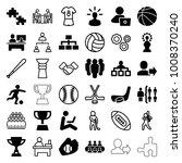 team icons. set of 36 editable... | Shutterstock .eps vector #1008370240