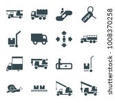 moving icons. set of 16... | Shutterstock .eps vector #1008370258
