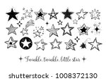 doodle stars on white background | Shutterstock .eps vector #1008372130