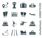 trip icons. set of 16 editable... | Shutterstock .eps vector #1008373150