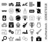 power icons. set of 36 editable ... | Shutterstock .eps vector #1008373318